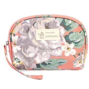 NWOT Coral Cosmetic Bag